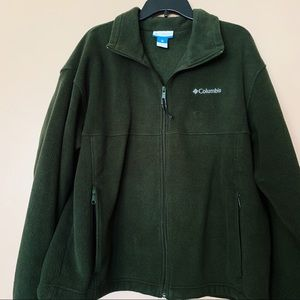 Men's Hunter Green Columbia Fleece Jacket